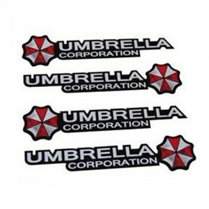 4 Umbrella Corporation Sticker Aufkleber Resident Evil Logo Spiel Film Emblem