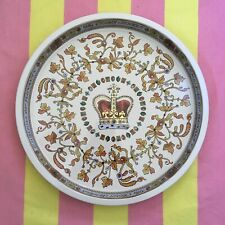 ONE x Emma Bridgewater Round Tin Tray -  CROWN JEWELS Royal Jewel - New 2019