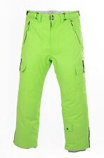 PERYSHER PERFORMANCE Green Mens Ski Pants / Snowboard Pants - Light Chartreuse