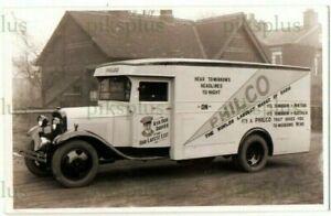 OLD MOTOR POSTCARD PHILCO RADIO MAKERS VAN / LORRY REAL PHOTO VINTAGE 1930S