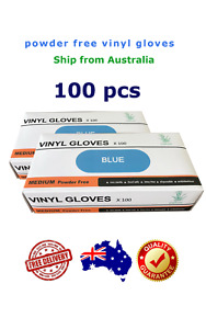 100 pcs commercial use vinyl disposable gloves, powder free design, Free postage