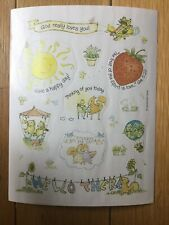 Vintage Dayspring Sticker Sheet Religious Strawberry Squirrel