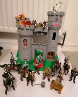 Vintage Fisher Price Castle + Dragon, Merlin, Queen, Knights, Horses & Monsters