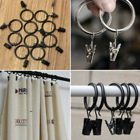 5 Pcs Stainless Steel Window Curtain Metal Clips With Rings HookDurability