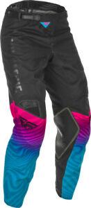 Fly Racing Men's Kinetic SE Pants (Black/Pink/Blue) US 36