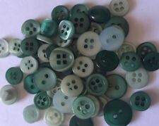 50 Dark Green Small Mixed Resin Buttons - Sewing, Craft, Scrapbooking