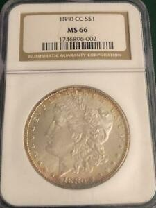 1880 CC $1 Morgan Silver Dollar NGC MS 66