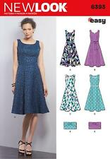 NEW LOOK SEWING PATTERN MISSES' EASY DRESS & PURSE SIZE 8 - 18  6393 A
