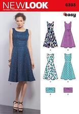Nuevo diseño patrón de costura pierde fácil Vestido Y Cartera Talla 8 - 18 6393 a