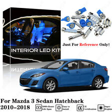 5pcs Blue Interior LED Light Package Kit For Mazda 3 Sedan Hatchback 2010-2018