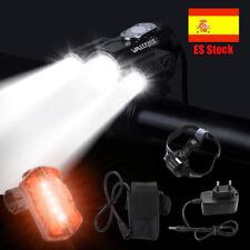 30000LM 3x XML T6+2R5 LED Luz bicicleta ciclismo Recargable Lámpara de cabeza ES
