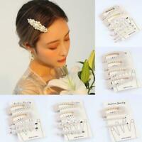 1set Diamante Crystal Bead Flower Barrette Hair Clip Hairpin Clamp G5T5