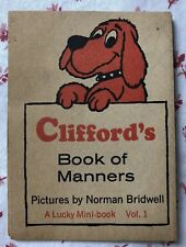 Vintage Early 1970s Clifford's Book of Manners Illustrated by Norman Bridwell