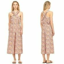 Rebecca Taylor Margo Ruffled Floral Sleeveless Jumpsuit Flowers Women's Size 2