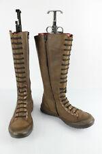 RAMDAM Bottes Filles Cuir Marron et Bronze Uk 5,5 / Fr 39