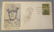 "US Iwo Jima stamped envelope w/ picture of Gen. MacArthur ""New Emporer of Japan"""