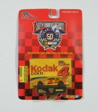 Nascar Car 50th Anniversary Kodak Gold 4 Collector Card Stand Racing Champions