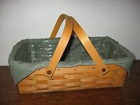 NEW Longaberger Sage Green Small Gathering/Oval Gathering Liner 4 Your  Basket