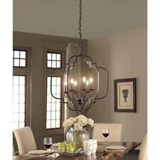 Modern Farmhouse Chandelier Light Fixture Rustic Pendant Lamp Ceiling Lighting