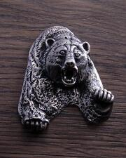 Sterling Silver 3-Dimensional Grizzly Bear Casting  DB2O