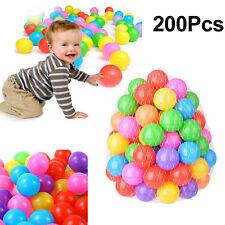 200PCS Ocean Ball Baby Kid Pit Toy Game Swim Fun Pool Ball Colorful 5.5cm Soft