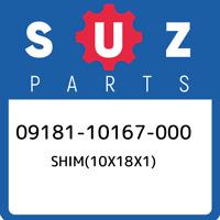09181-10167-000 Suzuki Shim(10x18x1) 0918110167000, New Genuine OEM Part