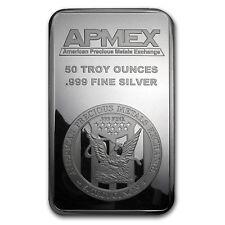 50 oz Silver Bar - APMEX (Struck) - SKU #83304
