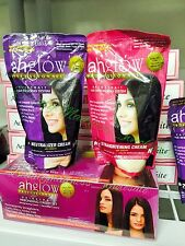 AHGLOW Hair Rebonding System Permanently Straighten Kinky Hair Silky Shiny Way
