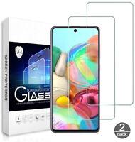 2x Samsung Galaxy A71 Schutzglas Panzerfolie Displayschutzfolie 9H Hartglas