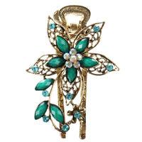 HU Belle Cristal bijoux vintage Barrettes de cheveux epingles a cheveux - Pour p