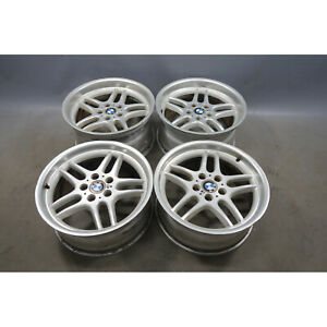 """1995-2001 BMW E38 M Parallel 18"""" Style 37 Staggered Polished Wheel Set of 4 OEM"""
