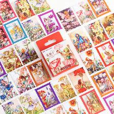 46 Vintage Flower Fairy Paper Stickers Planner Journal Seal Scrapbooking Crafts