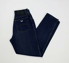 Armani jeans donna usato vita alta hot mom blu W29 tg 43 vintage boyfriend T346