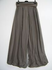 LAGENLOOK 100%SILK ITALIAN PALAZZO TROUSERS IN 15 COLS ONE SIZE FITS SIZES 12-16