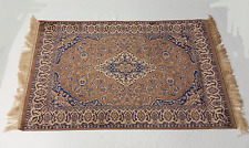 Vintage Light Antique European Transitional Oriental Design Carpet 24 x 48 inch
