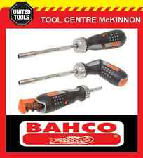 BAHCO ROTATING / PISTOL GRIP RATCHETING SCREWDRIVER WITH 6 BITS