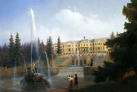 Oil Ivan Constantinovich Aivazovsky - View of the Big Cascade in Petergof 36""