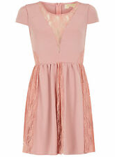Dorothy Perkins/Maya Lace Skater Top/Dress 16 Nude