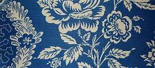 PIERRE FREY Comoglio Hauterive Toile Blue Cream Floral Linen Cotton Remnant New