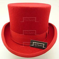 Wool Felt Tuxedo Topper Top Hat Men | 59cm | Black Red Grey Brown Navy Green