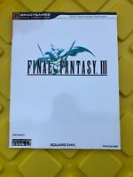Final Fantasy III Nintendo DS Official Strategy Guide Brady Games Hint Book