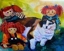 Among Friends 8x10 Ragdoll Cat print by Artist Sherry Shipley