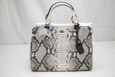 Coach 32368 Madison Python Embossed Leather LEX Carryall Handbag QB/Grey NWT