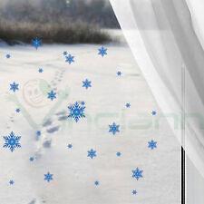 Wall Sticker adesivo Fiocchi Neve decorazione adesiva vetro parete natale fiocco