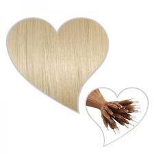 25 Nanoring-Extensions 35 cm platinblond#60 Echthaar Haarverlängerung Microring