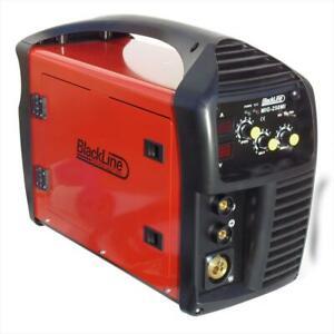 MIG Welder Inverter Gas / Gasless MMA 3in1 IGBT 240v 250 Amp DC Unit - Blackline