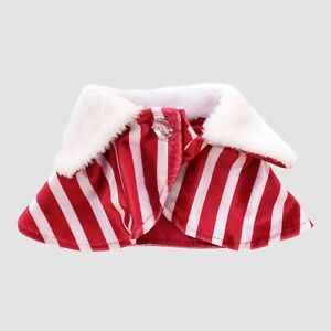 CAT DOG PET SIMPLY KITTY HALLOWEEN CHRISTMAS CAPE SMALL COSTUME DRESS RED WHITE