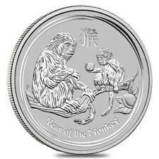 2016 Australia 2 oz Perth .999 Silver Lunar Monkey (from mint roll, in capsule)