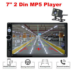 "7"" Inch 2 Din Car Stereo Radio HD MP5 FM Player Touch Screen +Free Rear Camera"