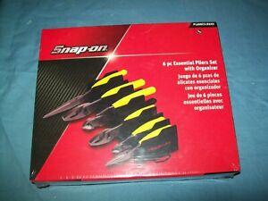 NEW Snap-on™ 6-pc Heavy Duty Pliers Set PL600ES1RK Yellow Hi-Viz Sealed